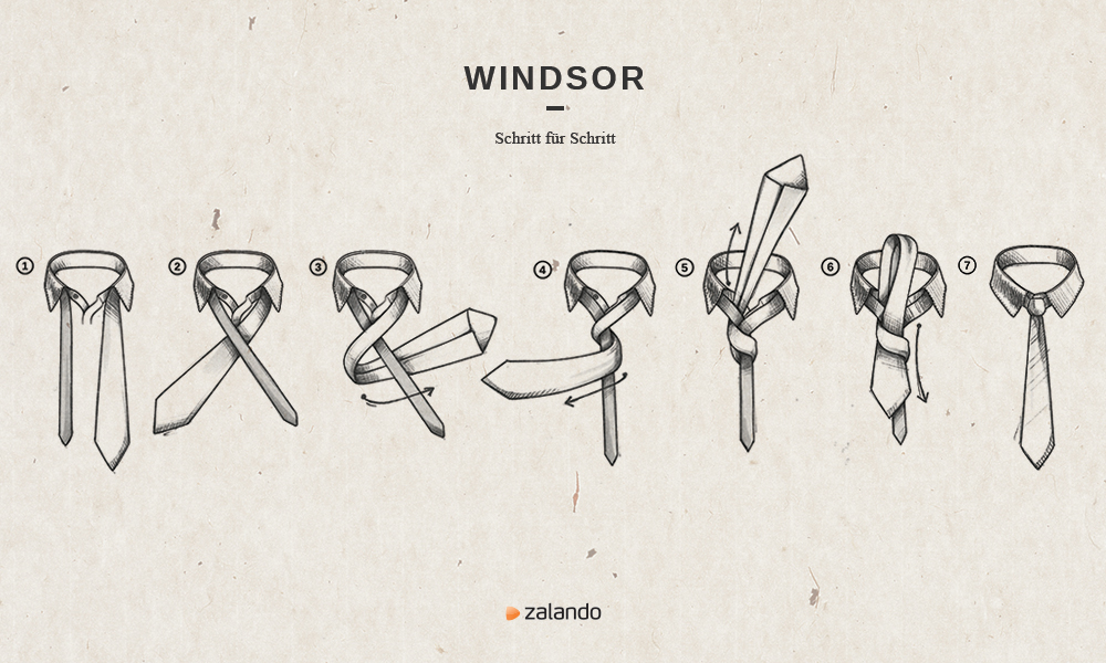 selected homme windsor knoten binden zalando zeigt dir wie. Black Bedroom Furniture Sets. Home Design Ideas