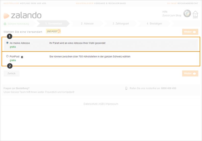 Zalando.ch Hilfe Häufige Fragen & Antworten finden Sie hier