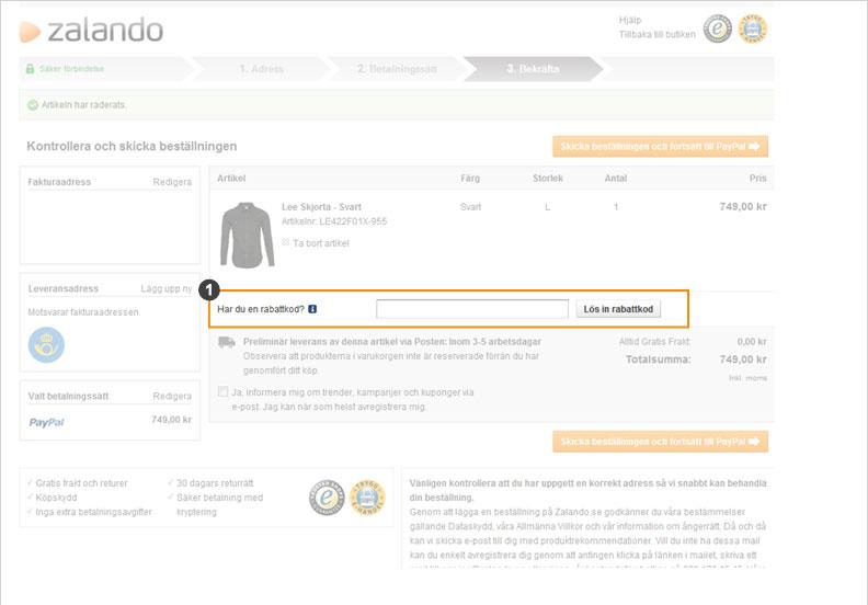 fdead22f Zalando Hjälp - Svar på vanliga frågor i vår FAQ